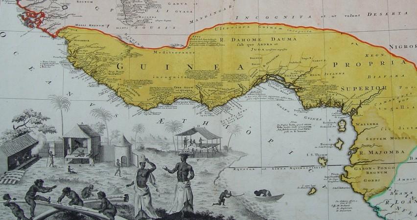 1. kaart van Guinea van Homann