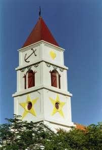 Kerktoren Aruba protestantse gemeente- Alofs